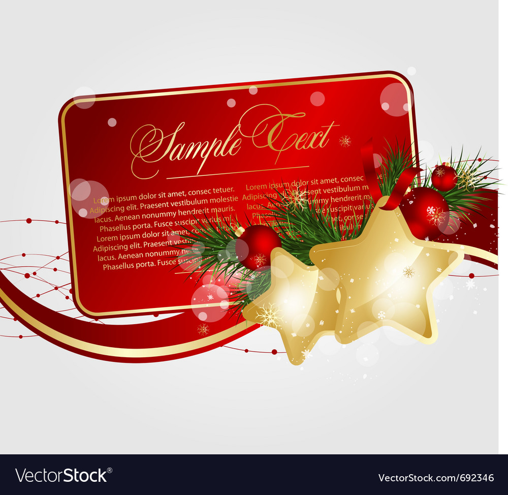Xmas floral cards vector | Price: 1 Credit (USD $1)