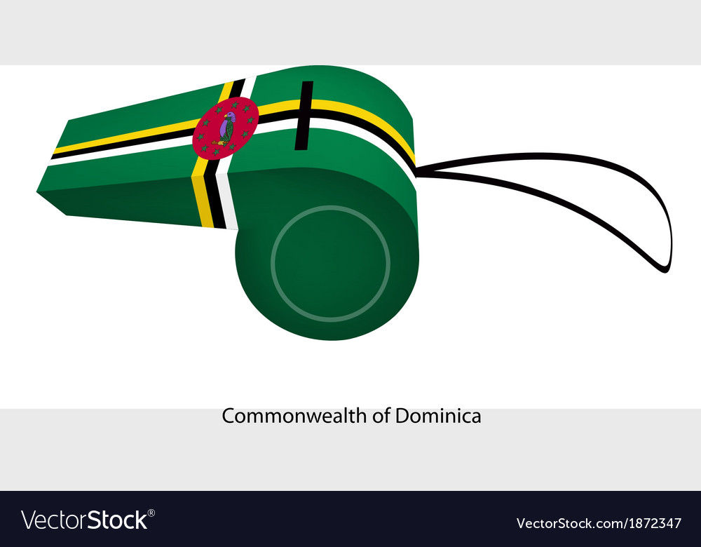 A whistle of the commonwealth of dominica vector | Price: 1 Credit (USD $1)