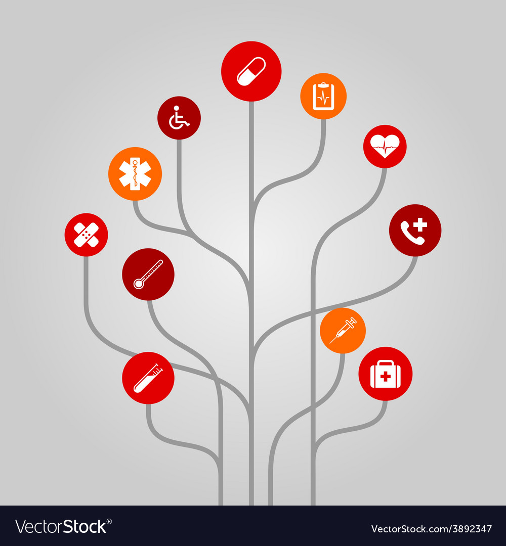Abstract icon tree concept - medicine and health vector | Price: 1 Credit (USD $1)