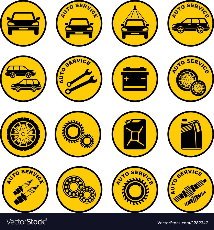 Car repair service icon vector | Price: 1 Credit (USD $1)