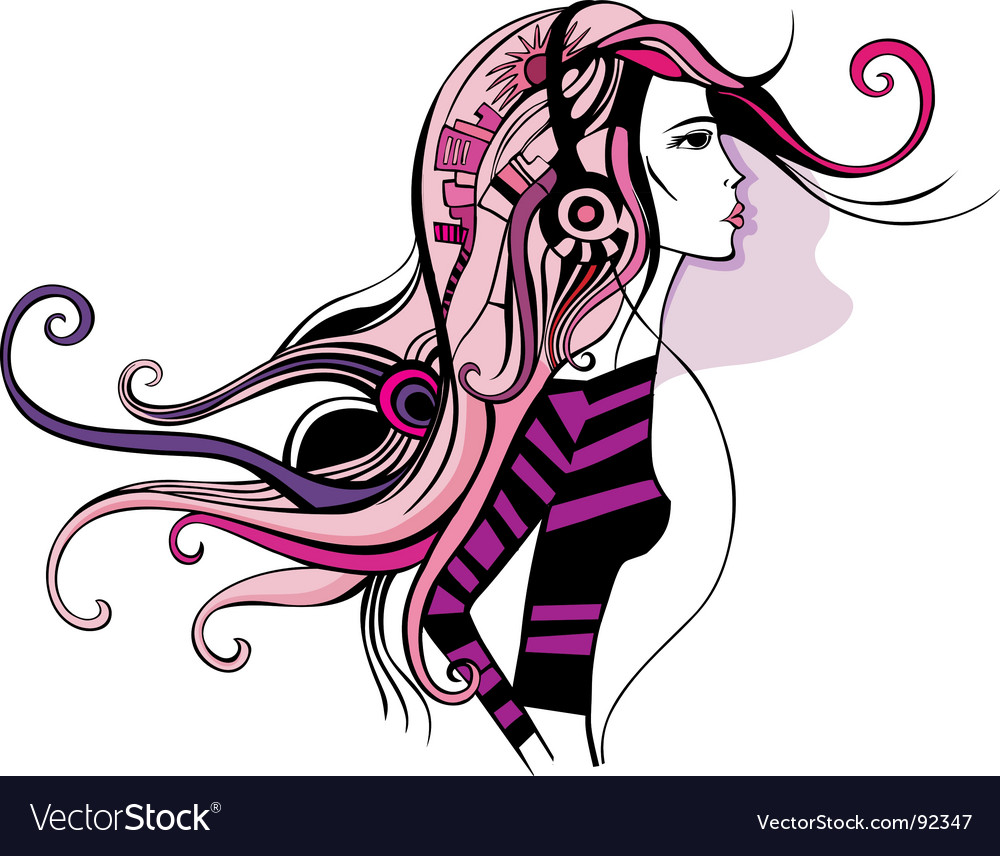 City girl vector | Price: 1 Credit (USD $1)