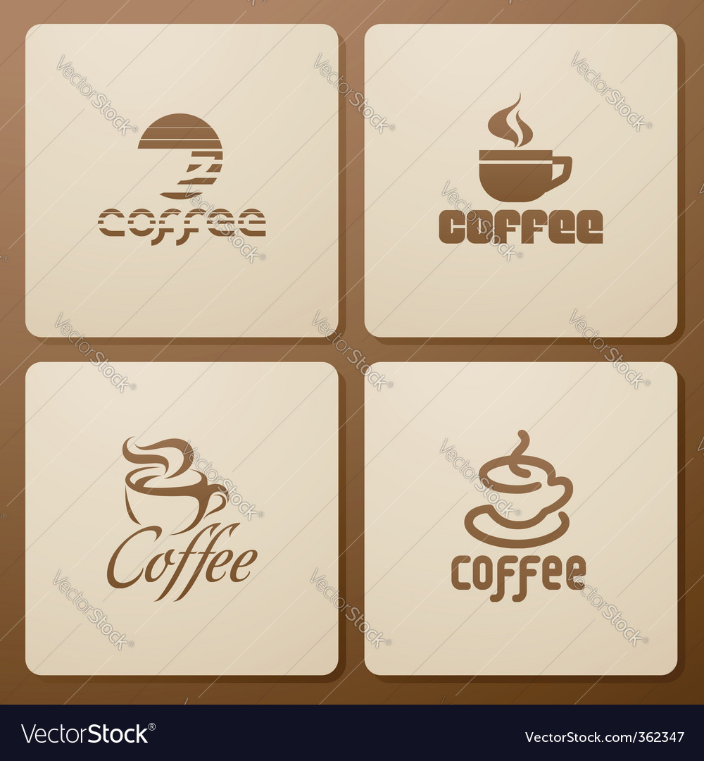 Coffee elements for design vector | Price: 1 Credit (USD $1)