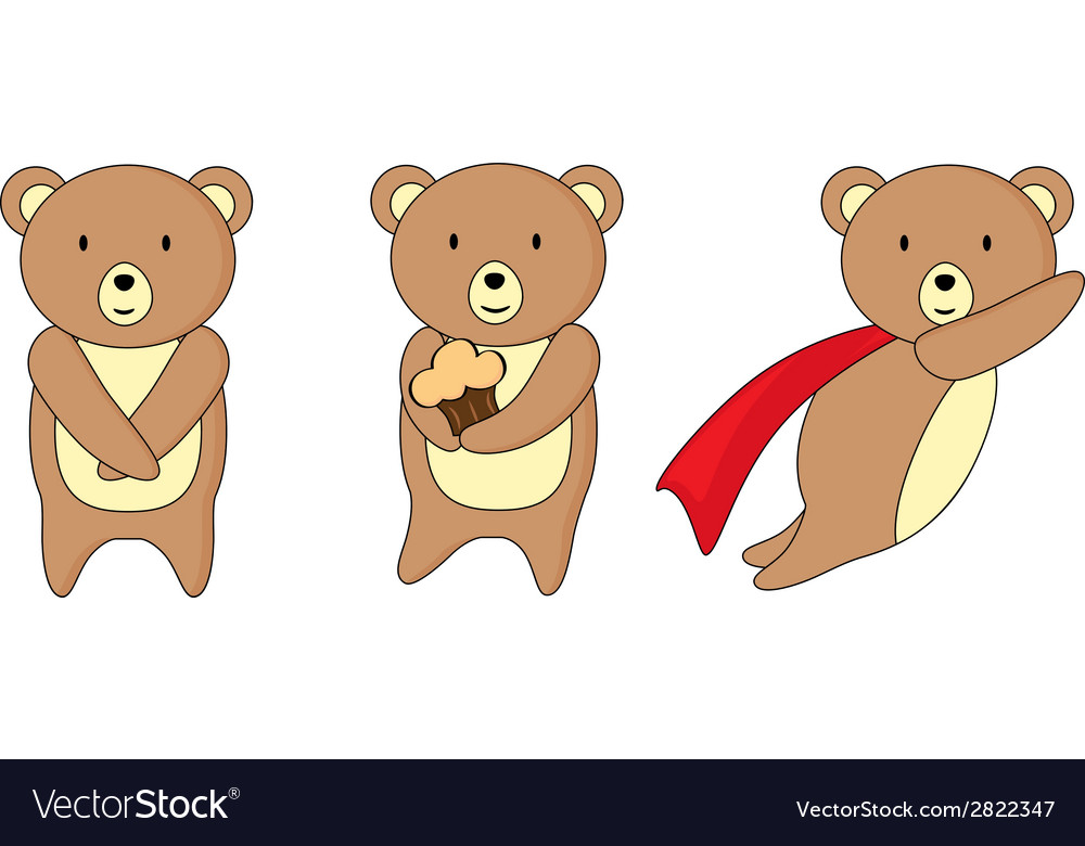 Cute teddy bear vector | Price: 1 Credit (USD $1)