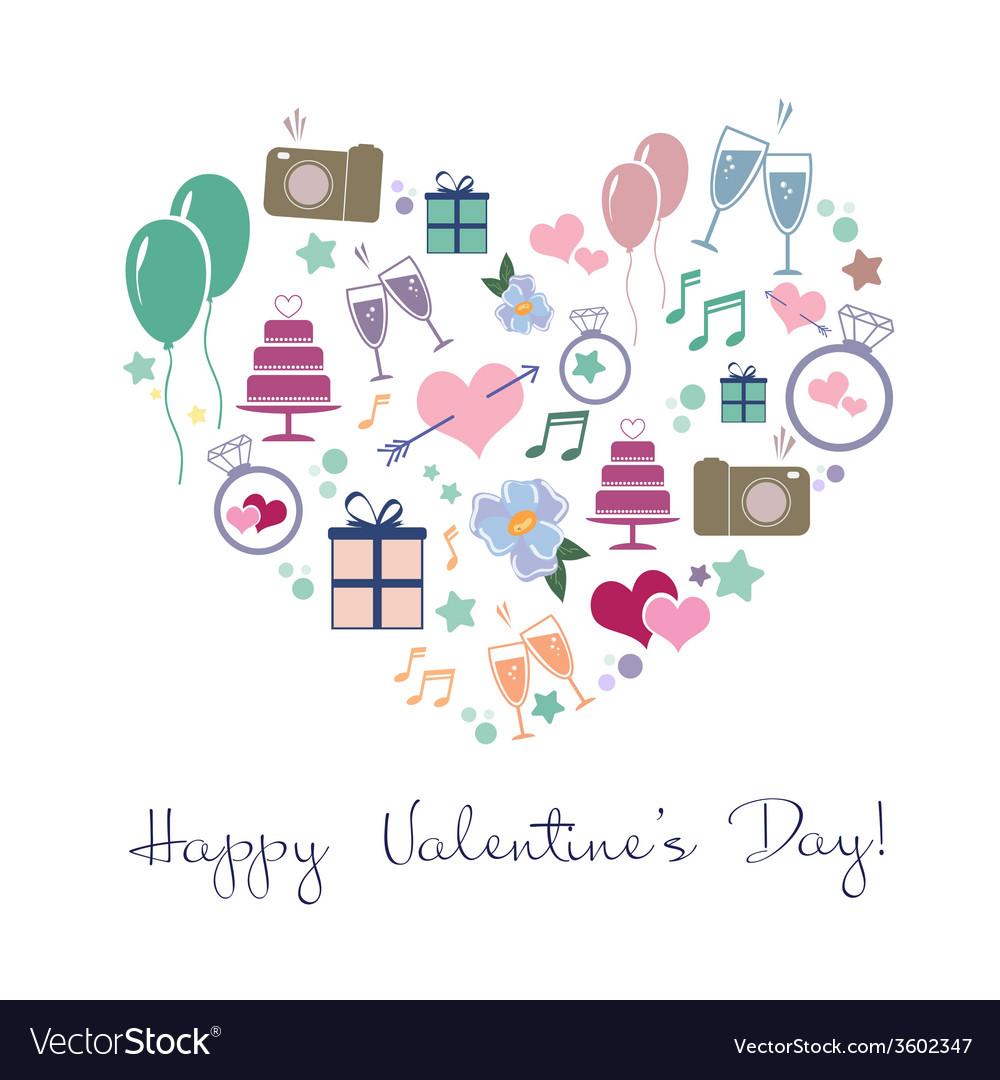 Happy valentines vector | Price: 1 Credit (USD $1)