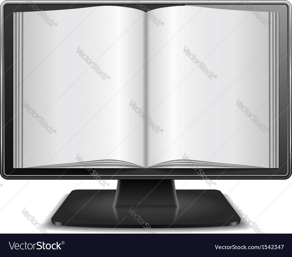 Magazine in computer monitor vector | Price: 1 Credit (USD $1)
