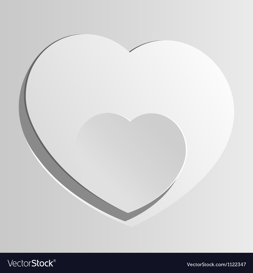 Realistic two heart cut out of paper valentines vector | Price: 1 Credit (USD $1)