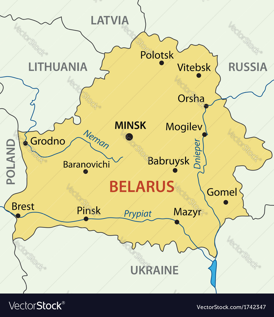 Republic of belarus - map vector | Price: 1 Credit (USD $1)