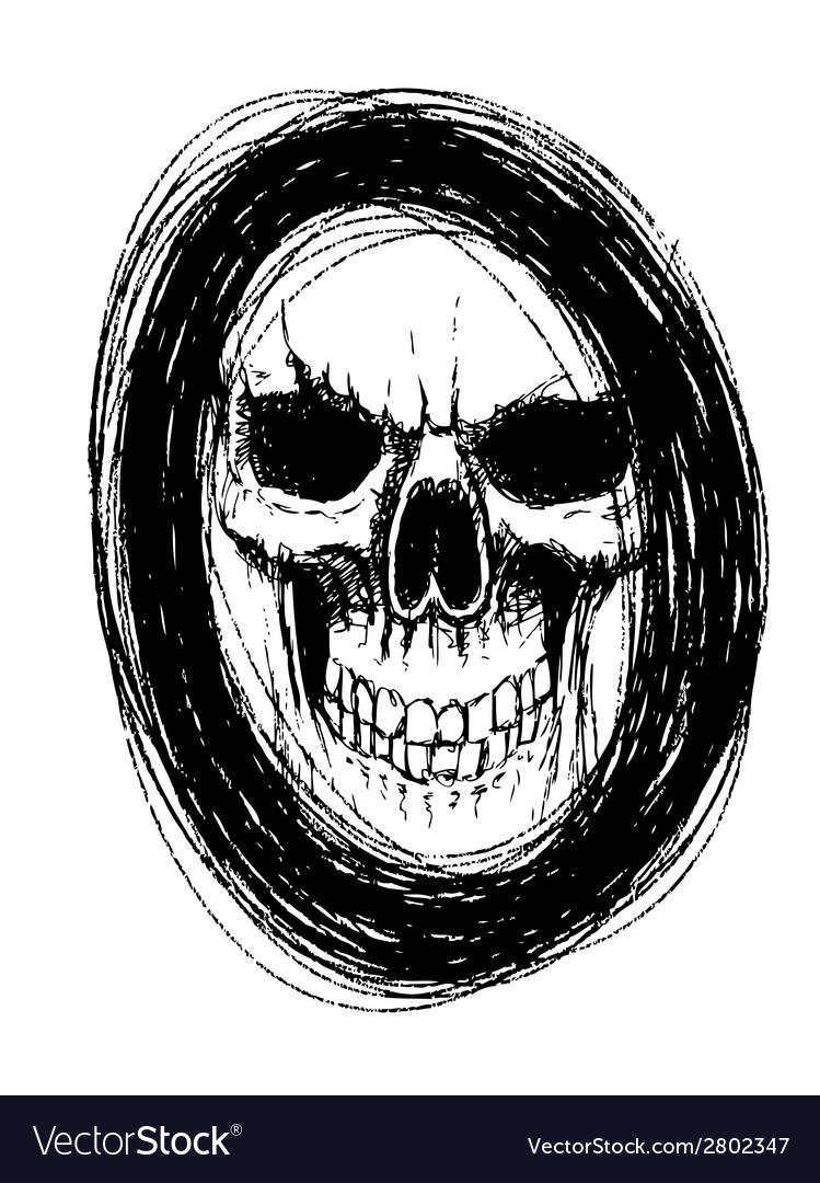 Skull in circle vector | Price: 1 Credit (USD $1)