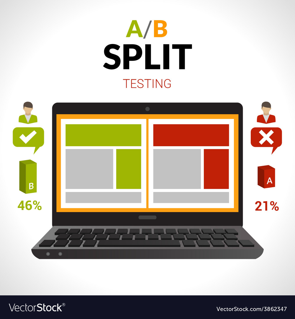 Split testing concept vector | Price: 1 Credit (USD $1)