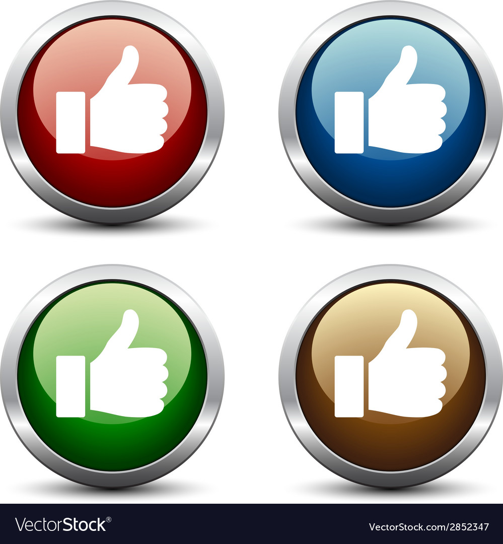 Thumb up buttons vector | Price: 1 Credit (USD $1)