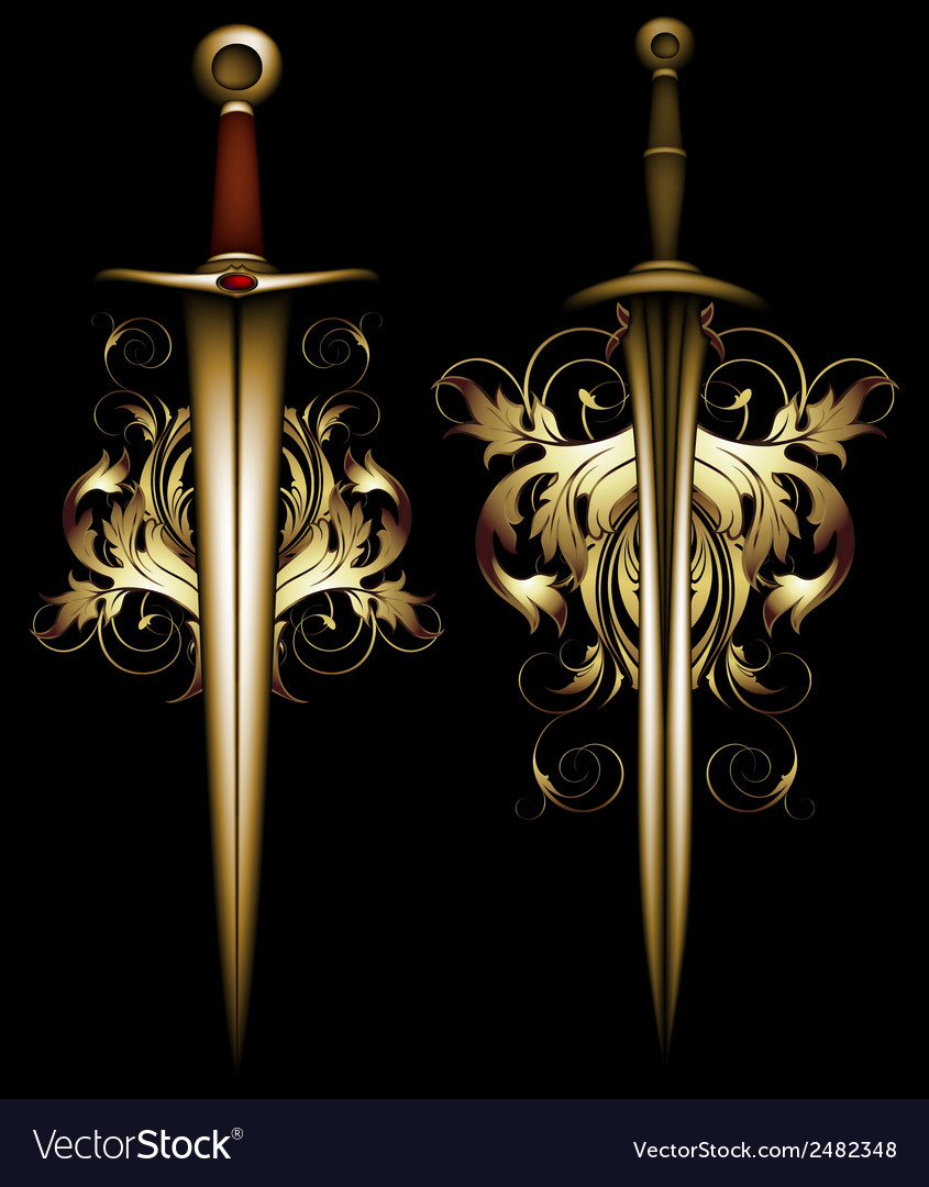 Ancient ornate arms vector | Price: 1 Credit (USD $1)