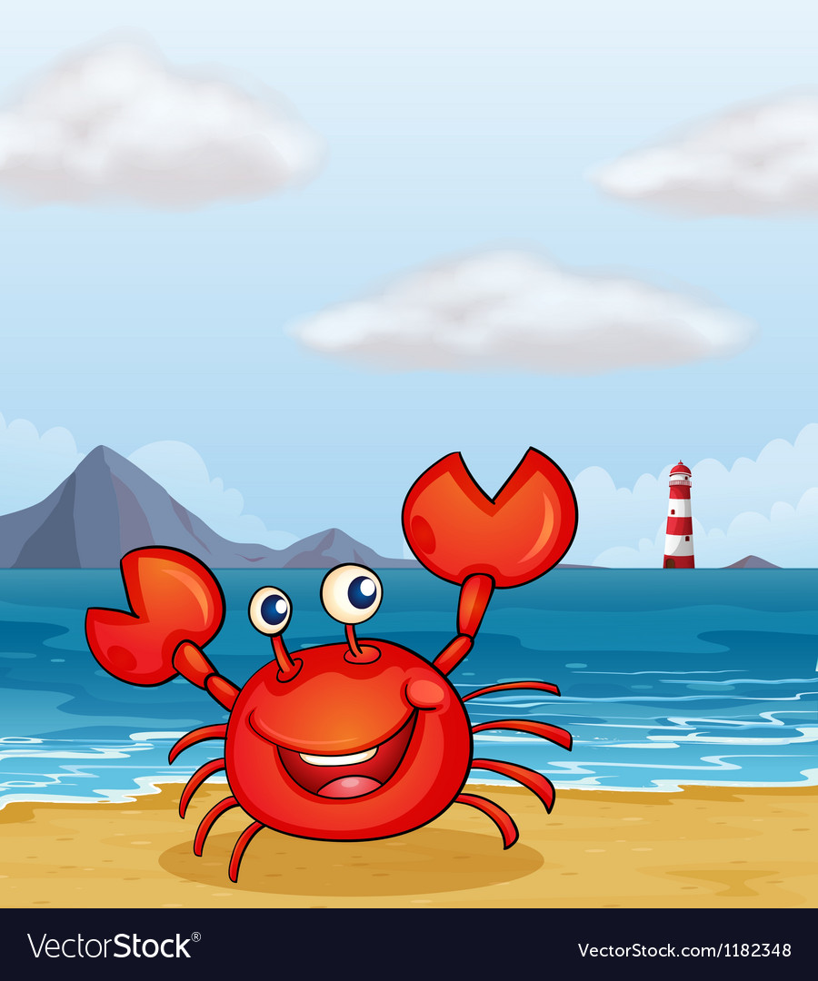 Beachside crab vector | Price: 1 Credit (USD $1)