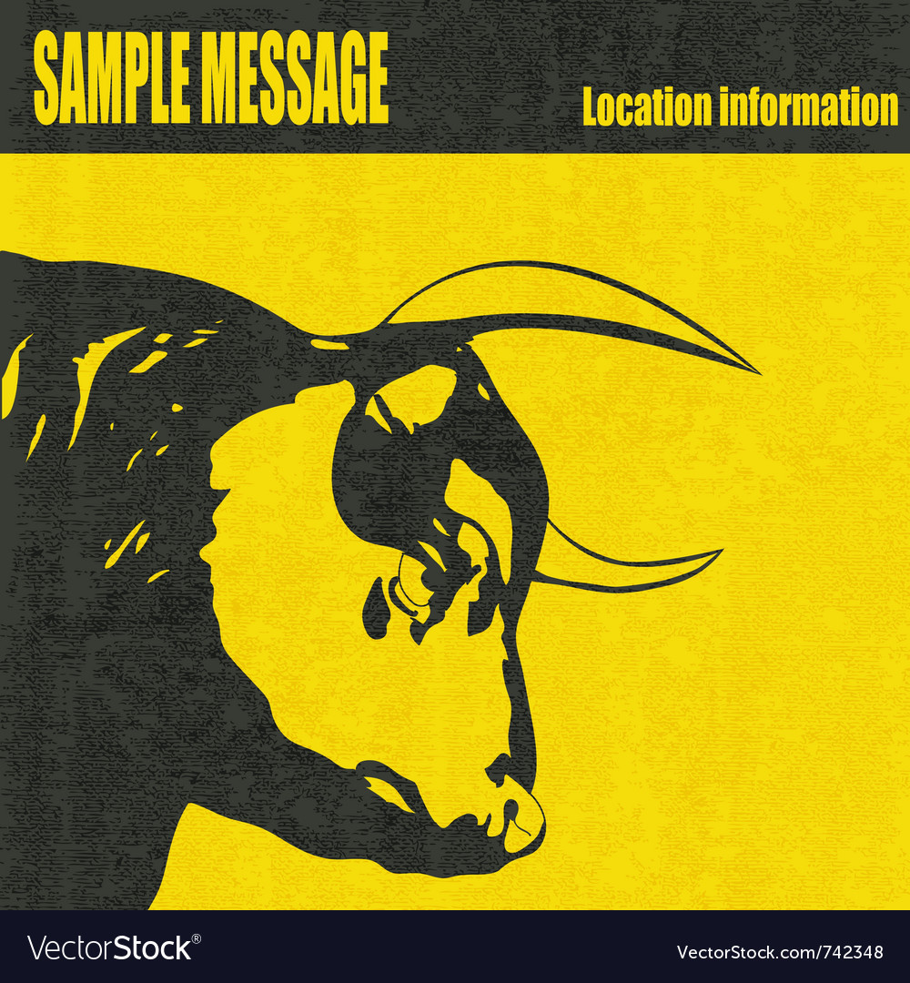 Bull head vector | Price: 1 Credit (USD $1)