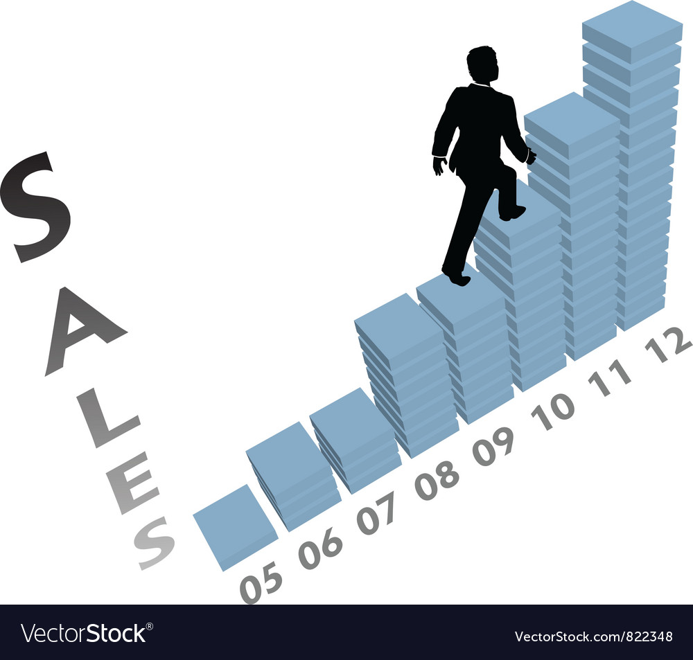 Business sales graph vector | Price: 1 Credit (USD $1)