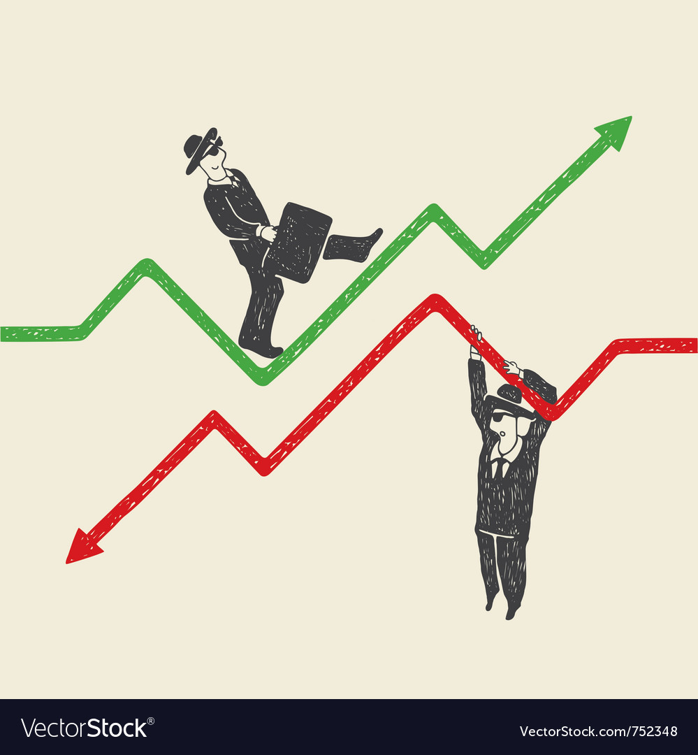 Businessman up and down vector | Price: 1 Credit (USD $1)