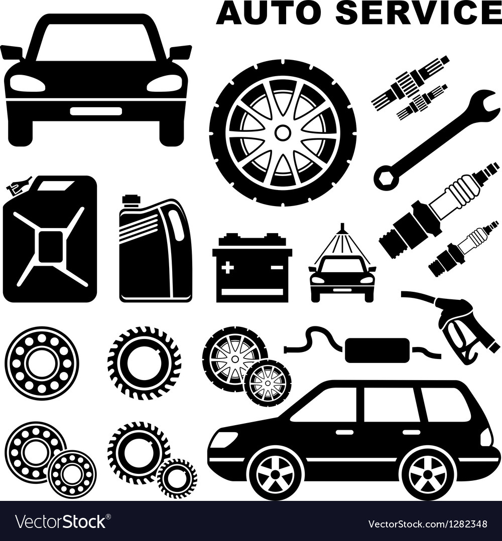 Car repair service icon vector | Price: 1 Credit (USD $1)