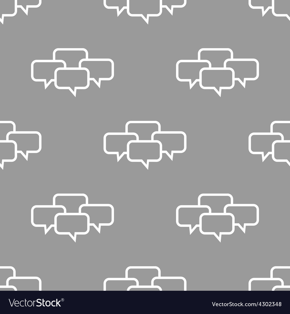 Dialog seamless pattern vector | Price: 1 Credit (USD $1)