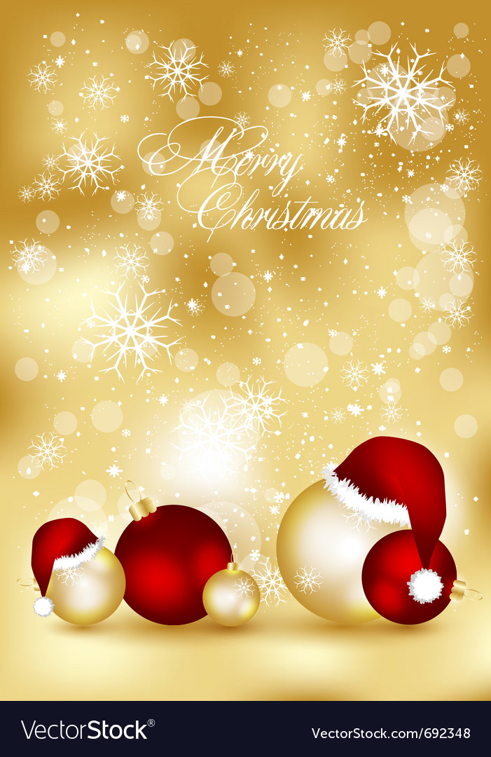 Golden xmas cards vector | Price: 1 Credit (USD $1)