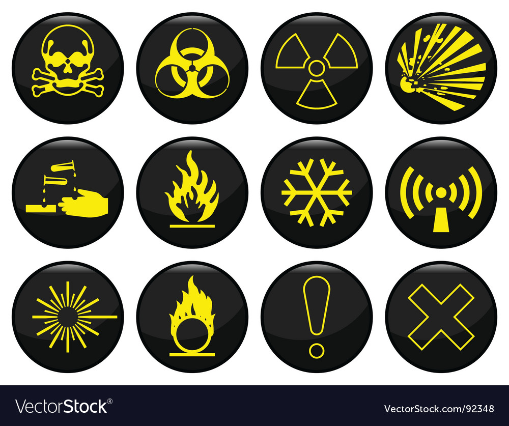 Hazard icon vector | Price: 1 Credit (USD $1)