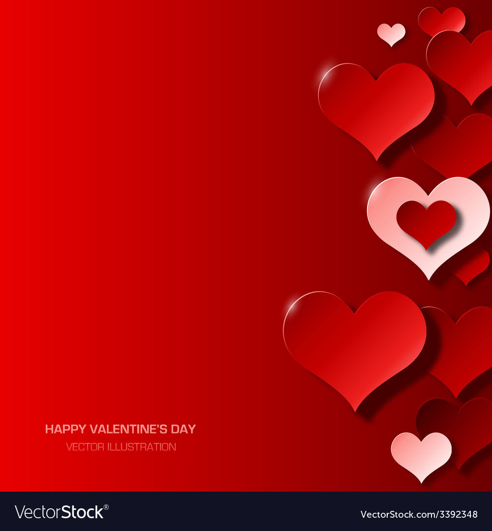 Modern valentines day background vector | Price: 1 Credit (USD $1)