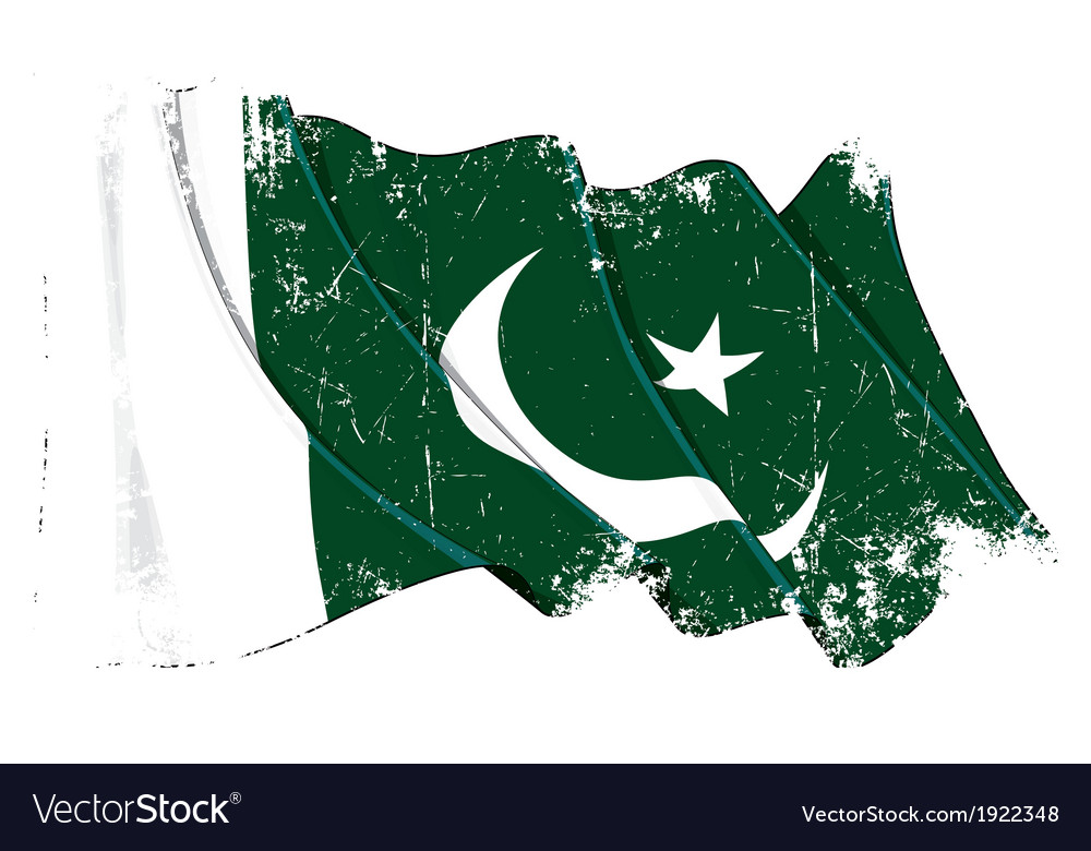 Pakistan flag grunge vector   Price: 1 Credit (USD $1)