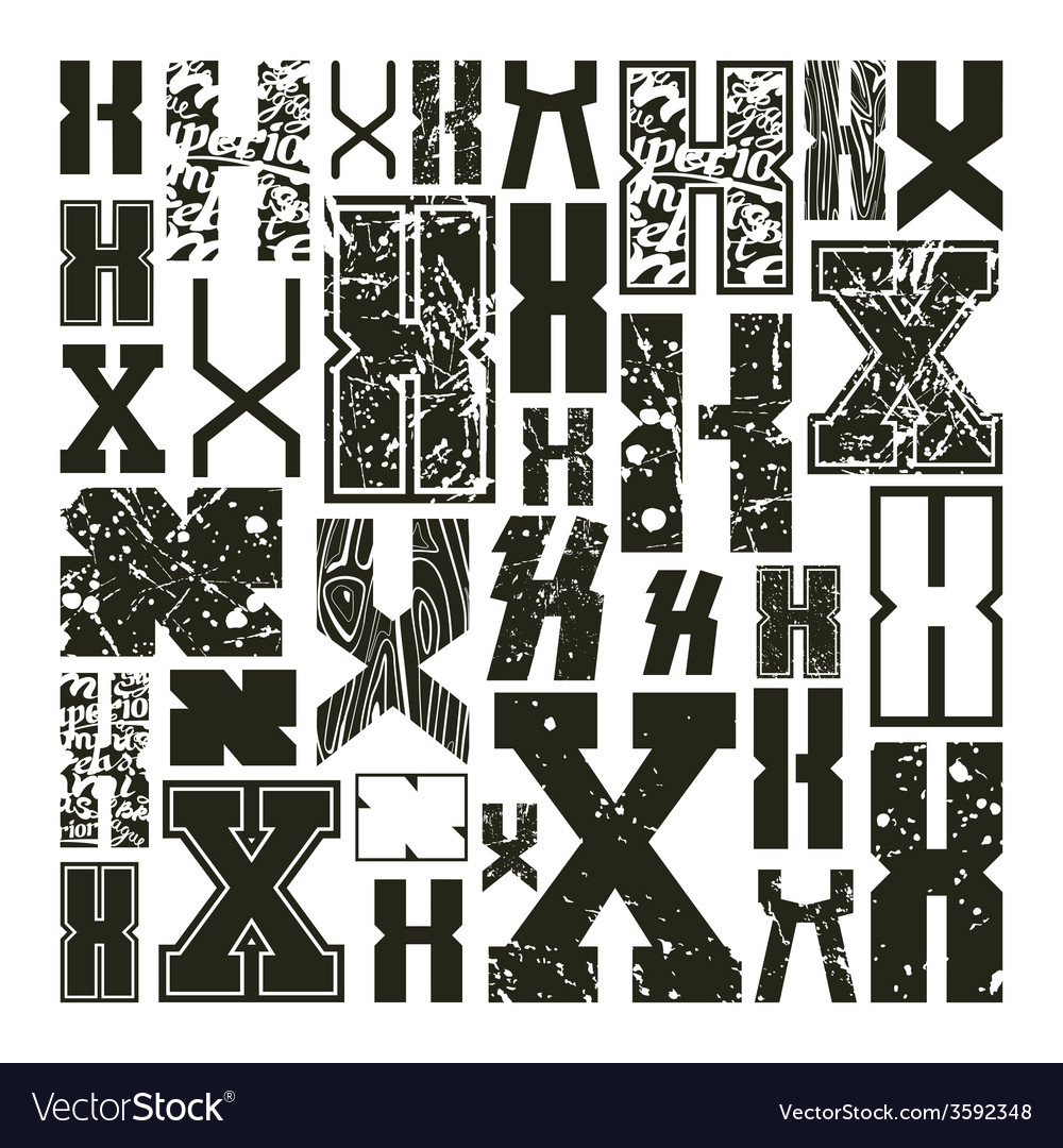 Set versions of letters x vector | Price: 1 Credit (USD $1)