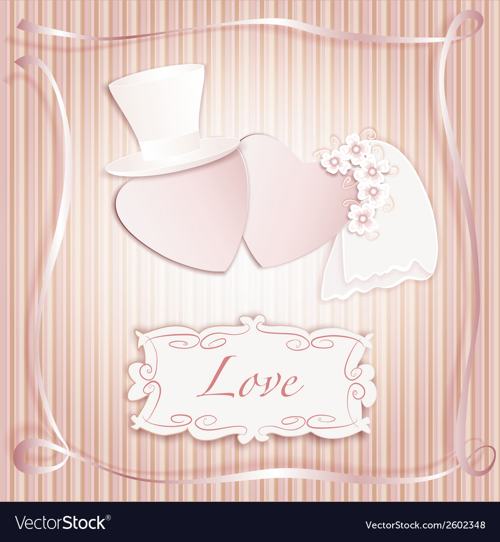 Wedding heart pink vector | Price: 1 Credit (USD $1)
