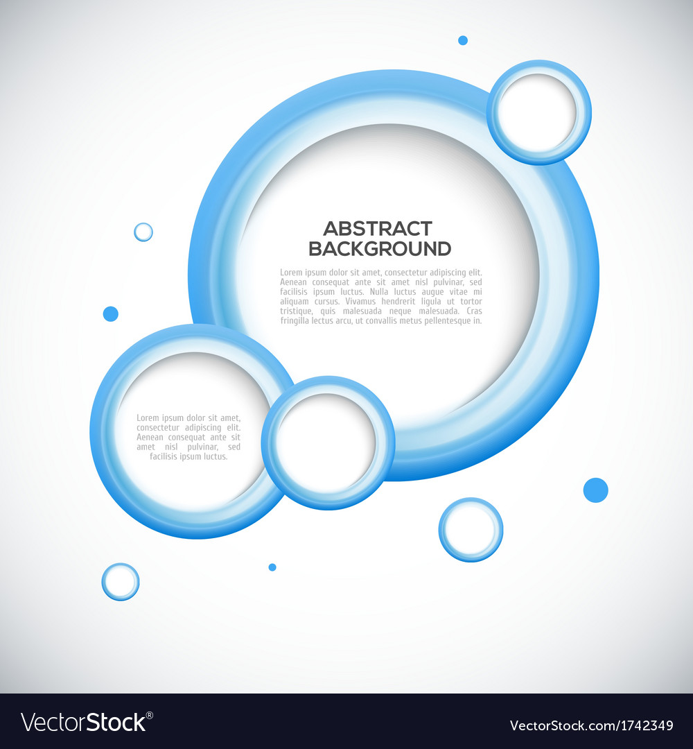 Abstract 3d blue circles background vector | Price: 1 Credit (USD $1)