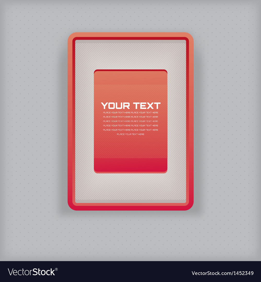 Abstract simple red picture frame vector | Price: 1 Credit (USD $1)
