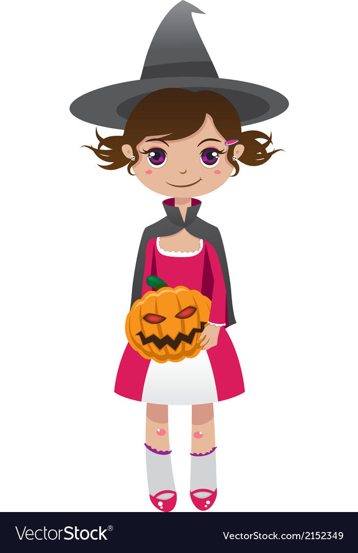 Brownhair witch vector | Price: 1 Credit (USD $1)