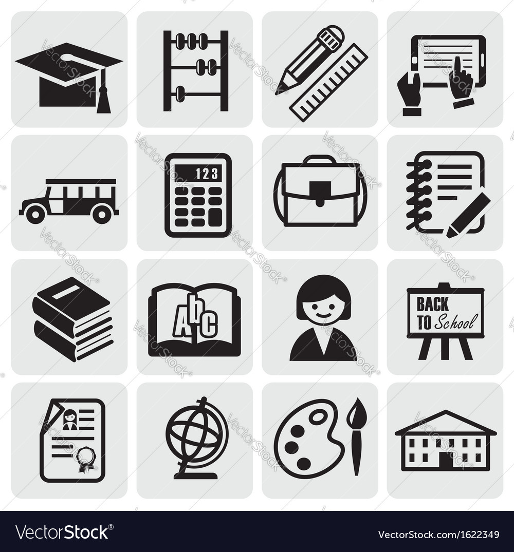 Education set vector | Price: 1 Credit (USD $1)