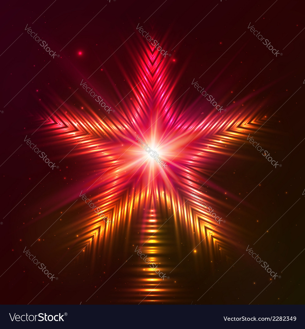 Fire red star vector   Price: 1 Credit (USD $1)