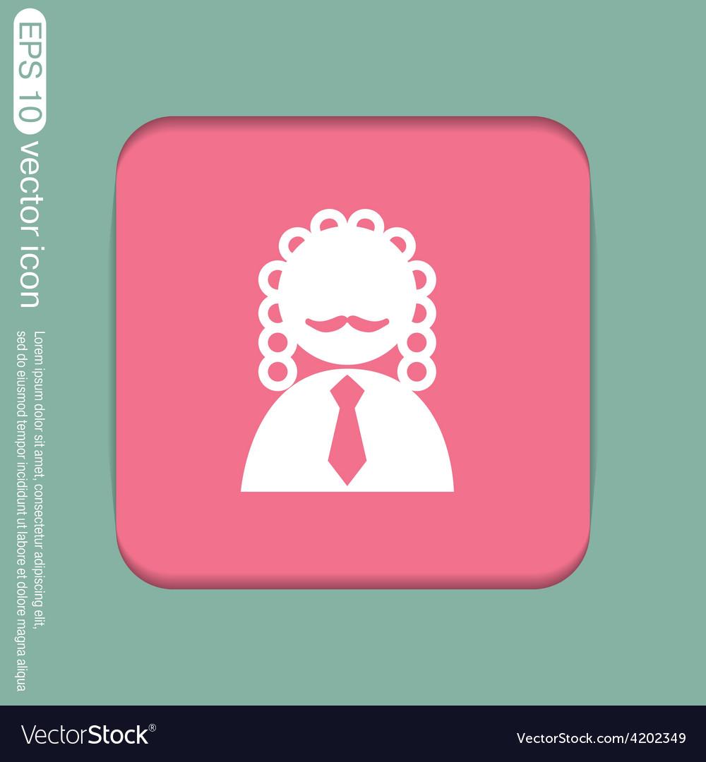 Judge icon avatar symbol of justice vector | Price: 1 Credit (USD $1)