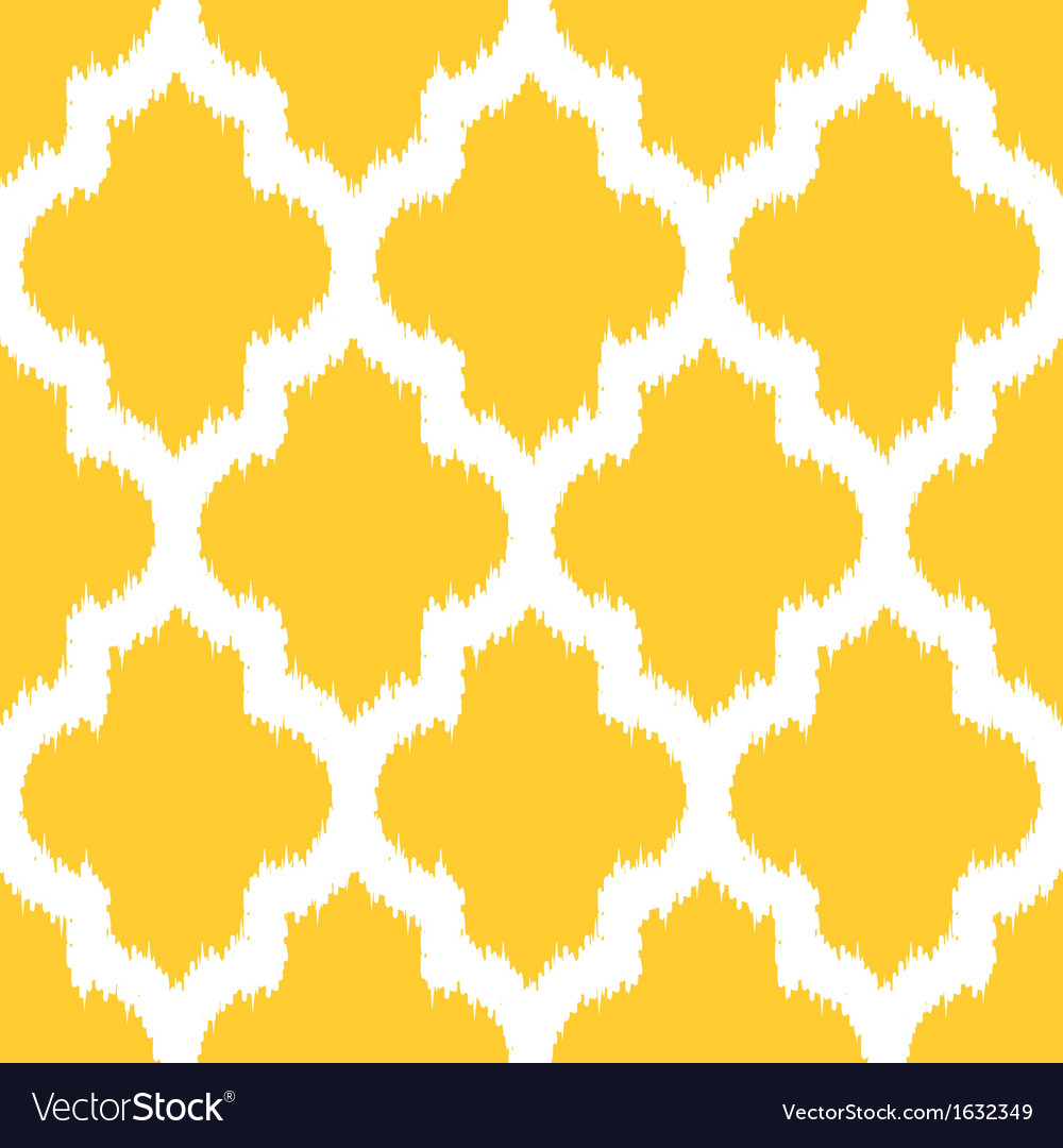 Moroccan ikat yellow vector | Price: 1 Credit (USD $1)