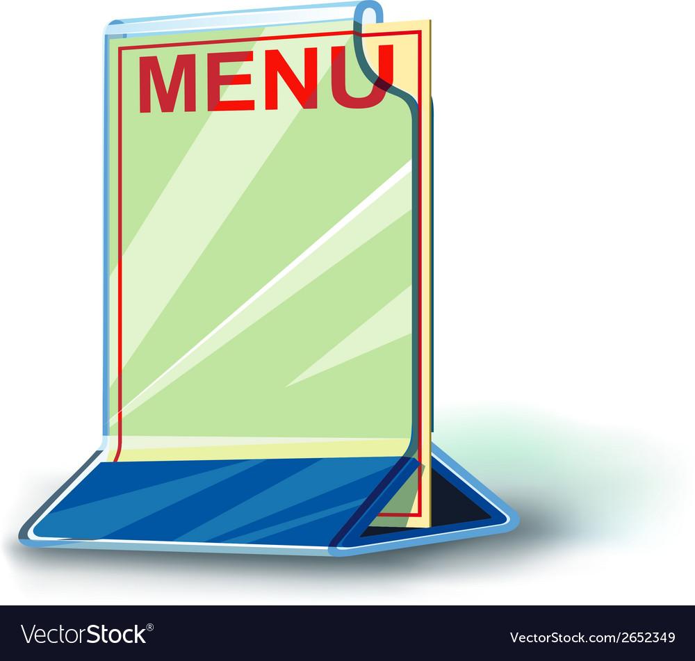 Plexiglas plate menu vector | Price: 1 Credit (USD $1)
