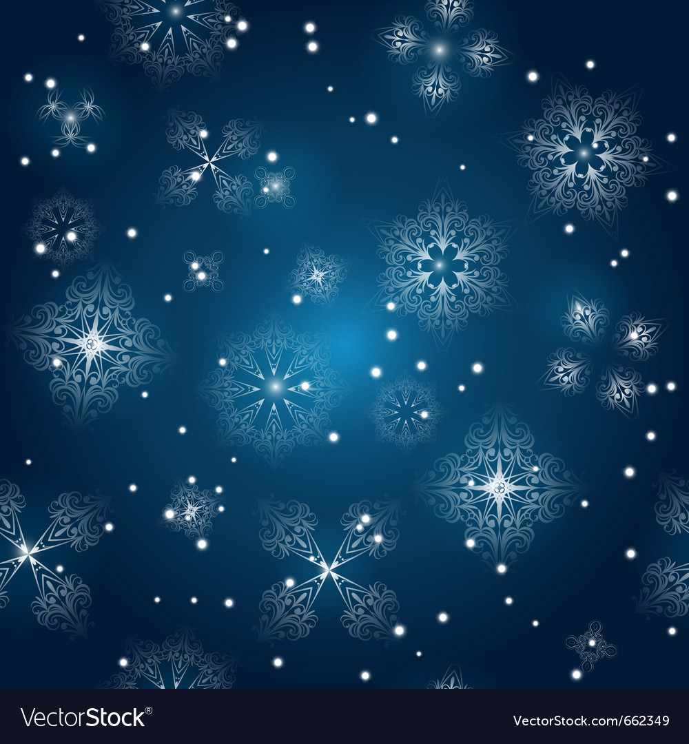 Seamless background with snowflakes vector | Price: 1 Credit (USD $1)