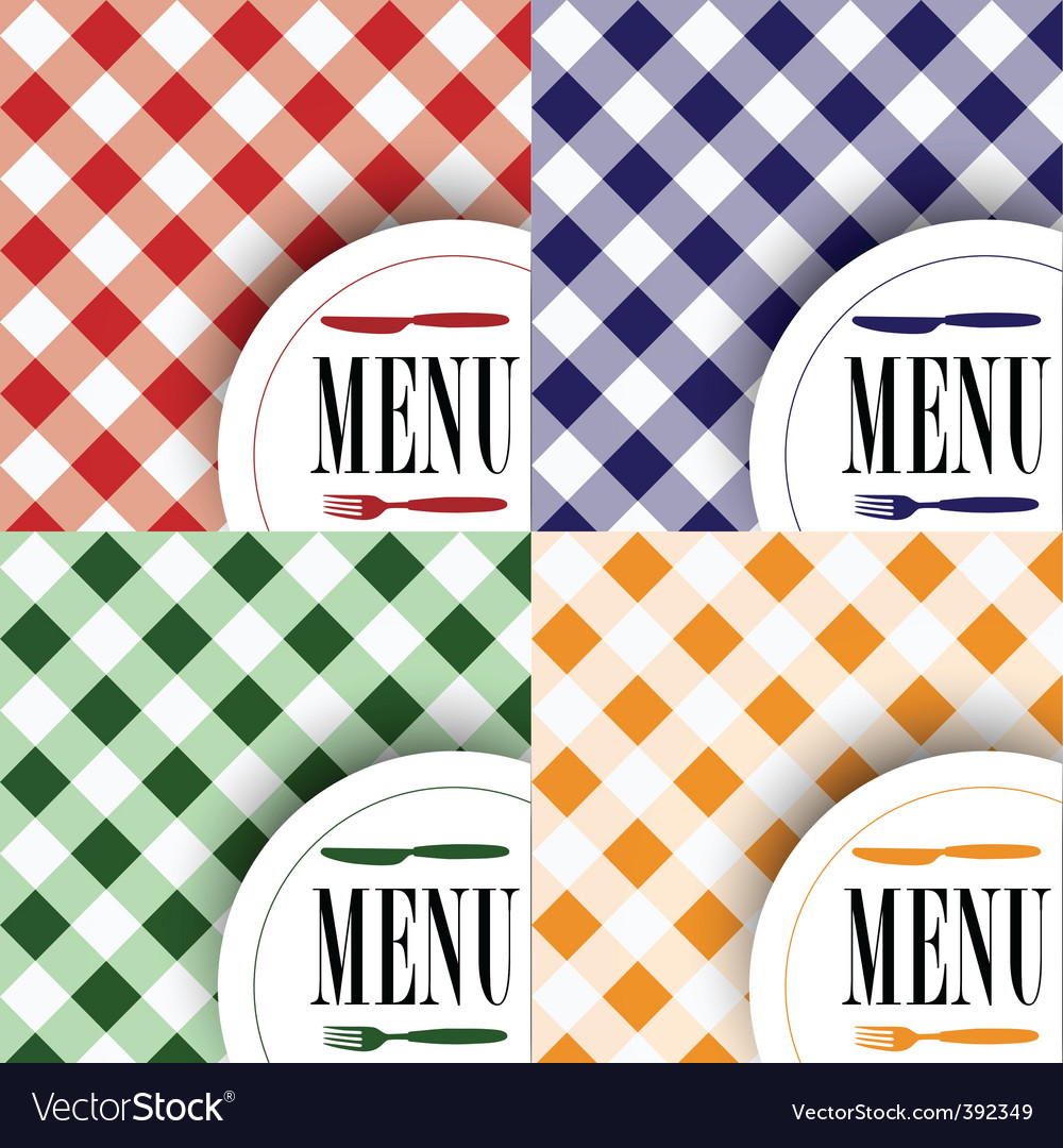 Set of menu card designs vector | Price: 1 Credit (USD $1)