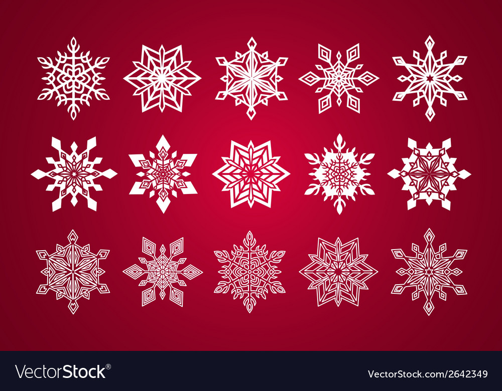 Set of various fine lace snowflakes for christmas vector | Price: 1 Credit (USD $1)