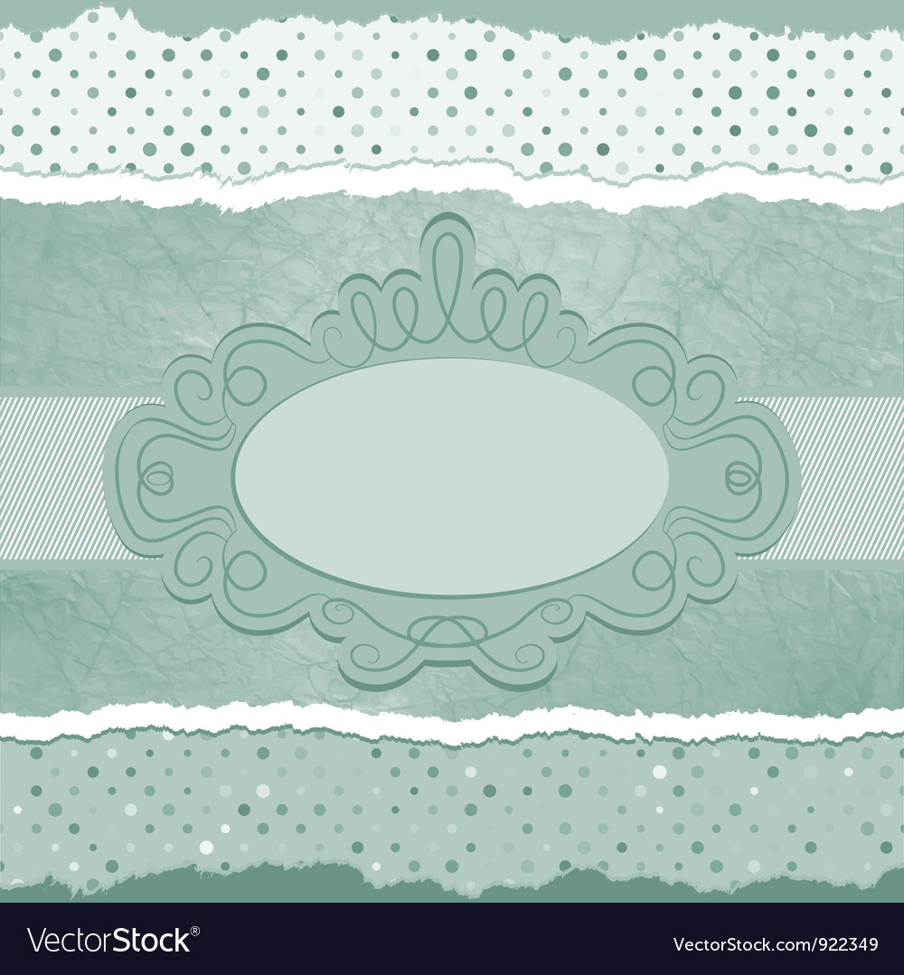 Vintage polka dots elegant card vector | Price: 1 Credit (USD $1)