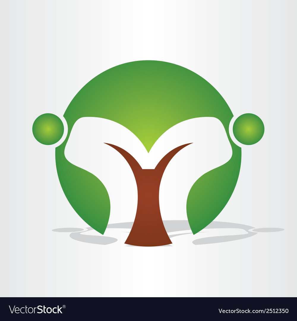 Abstract tree people design vector | Price: 1 Credit (USD $1)