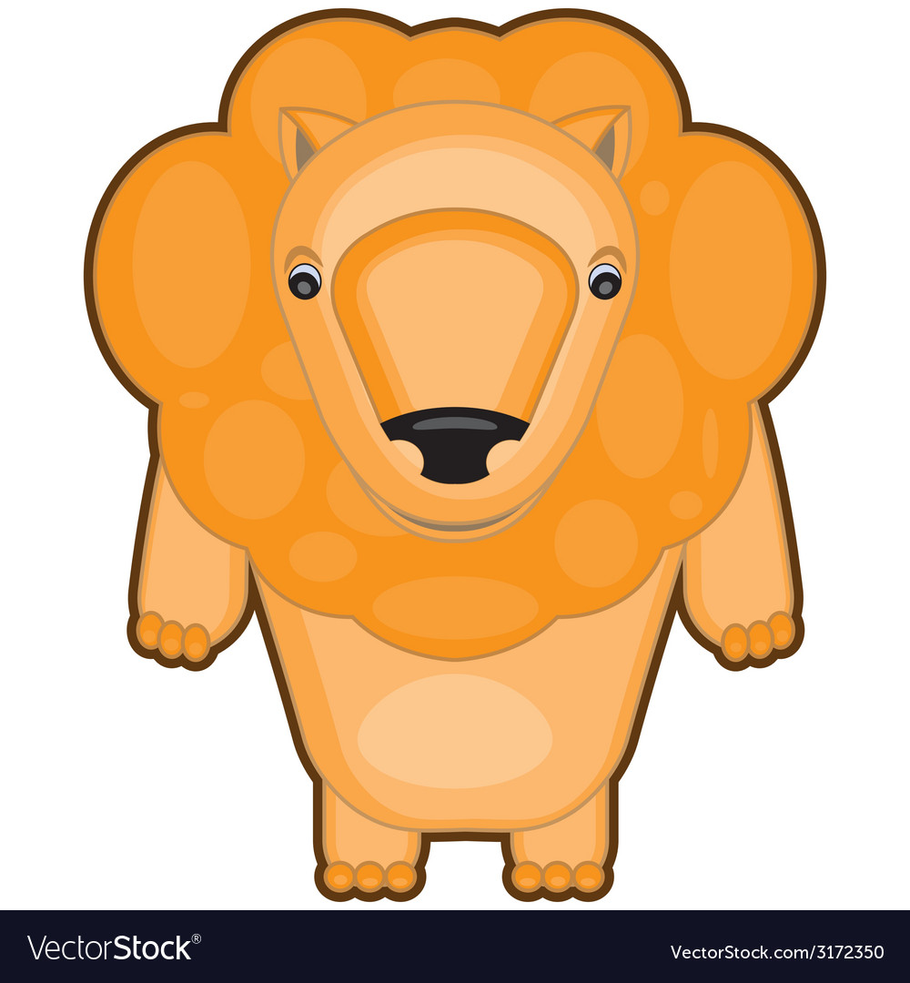 Cartoon of a baby lion vector | Price: 1 Credit (USD $1)