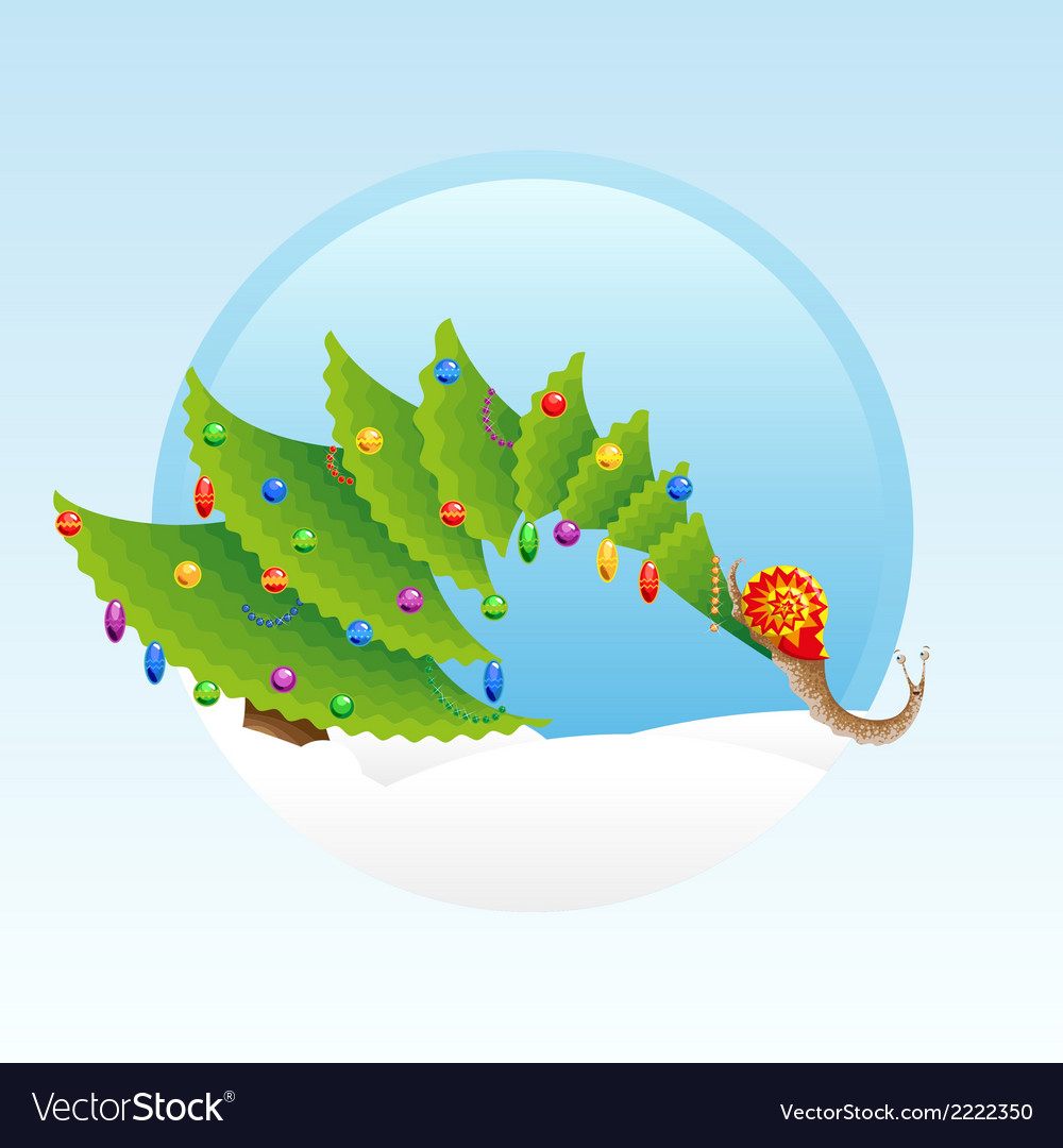 Christmas snail vector | Price: 1 Credit (USD $1)