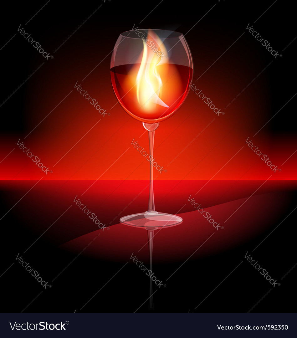 Fire in a glass vector | Price: 1 Credit (USD $1)