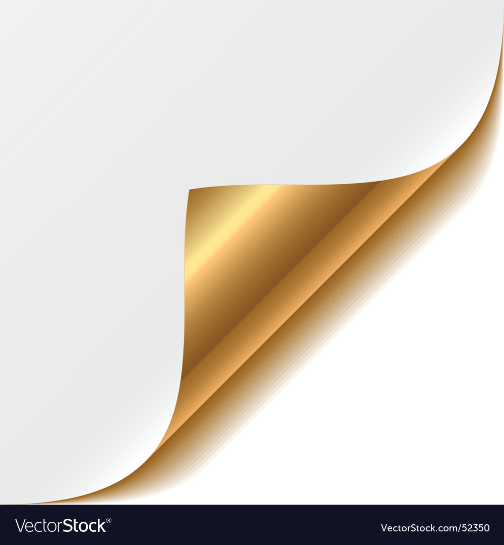 Gold corner vector | Price: 1 Credit (USD $1)