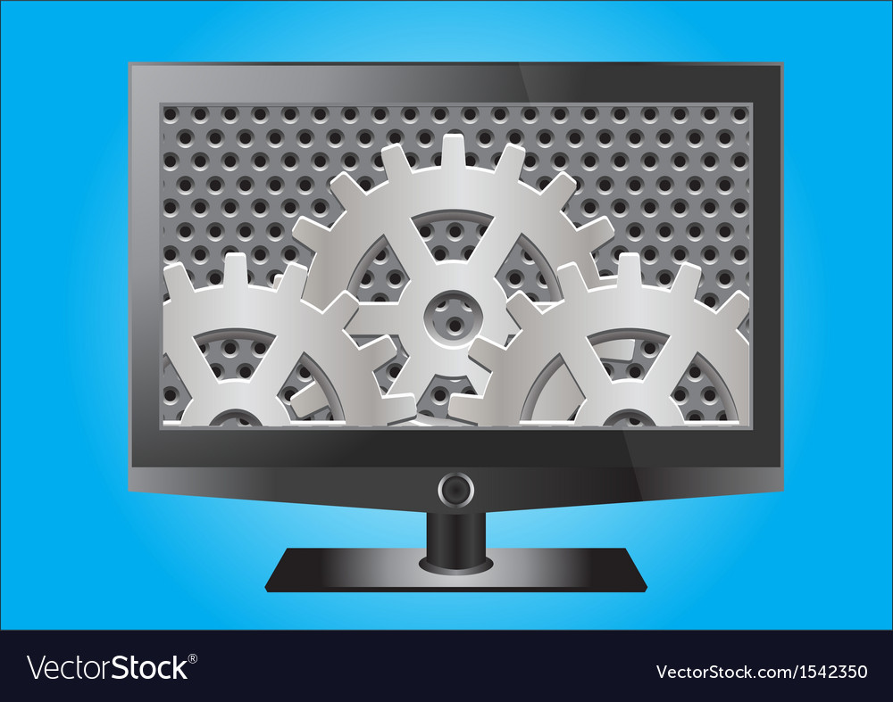 Hd flat screentelevesion vector | Price: 1 Credit (USD $1)