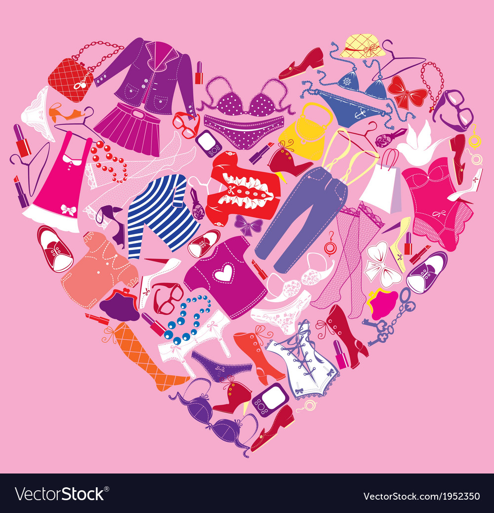 I love shopping image - the heart vector | Price: 1 Credit (USD $1)