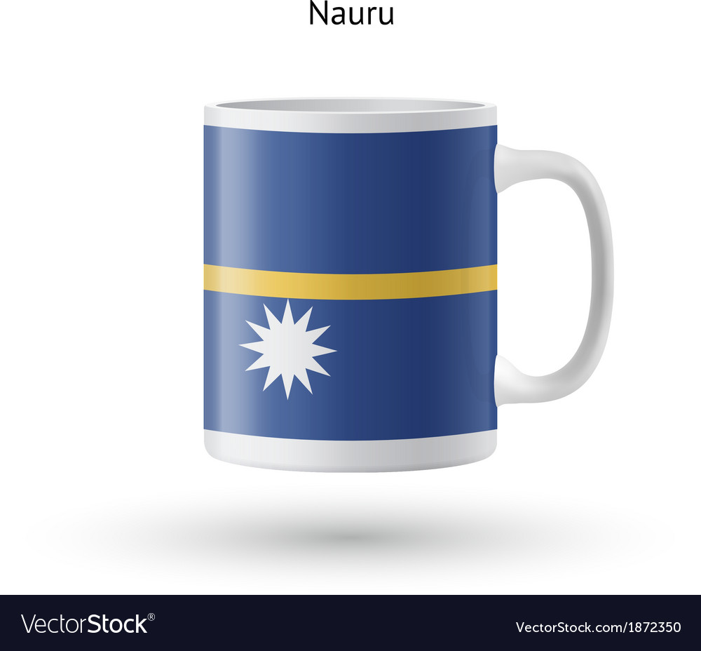 Nauru flag souvenir mug on white background vector | Price: 1 Credit (USD $1)