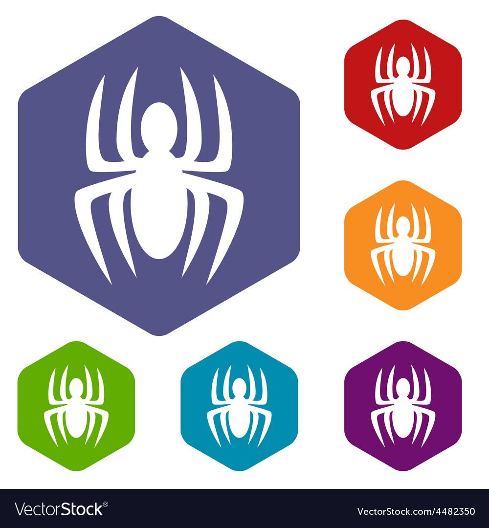 Spider rhombus icons vector | Price: 1 Credit (USD $1)