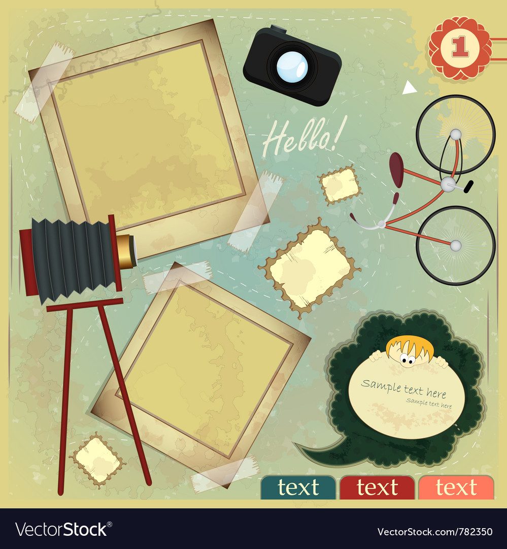 Vintage card vector | Price: 3 Credit (USD $3)