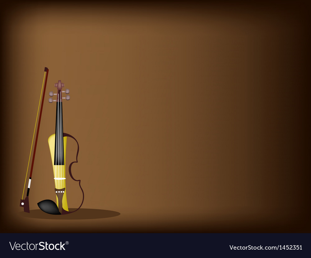 A beautiful modern violin on dark brown background vector | Price: 1 Credit (USD $1)